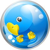 Blue bird twitter ing icon Stock Photos