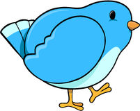 Blue Bird Vector. Cute Blue Bird Vector Illustration Stock Images