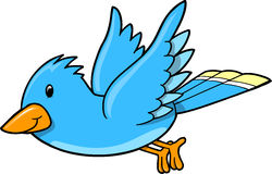 Blue Bird Vector Illustration Stock Photo