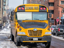 Blue Bird Vision school bus in service in Toronto, Canada Stock Photos