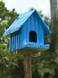 Blue birdhouse Royalty Free Stock Image