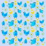 Blue birds background Stock Photography