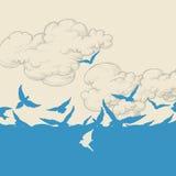 Blue birds flying Stock Photography