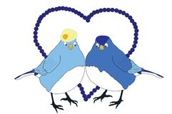 Blue Birds in Love Royalty Free Stock Photography