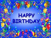 Blue Birthday Background Royalty Free Stock Photo