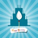 Blue Birthday Background Illustration Stock Image