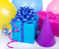 Blue Birthday Box Stock Photography