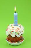 Blue birthday candle Stock Image
