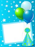 Blue Birthday card Stock Photography