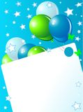 Blue Birthday card Stock Image