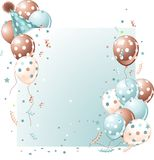Blue Birthday card Royalty Free Stock Photography