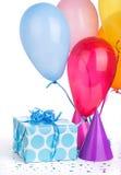 Blue Birthday Present Stock Photo