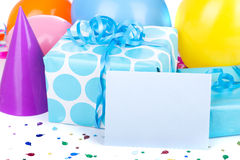 Blue Birthday Presents Royalty Free Stock Images