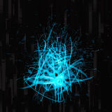 Blue & black abstract futuristic background Stock Photo