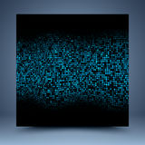 Blue vector pattern mosaic abstract background Royalty Free Stock Photos