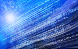 Blue black background binary code stock photo