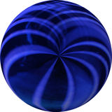 Blue and Black Ball Royalty Free Stock Photography