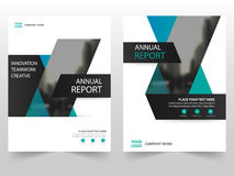 Blue black business Brochure Leaflet Flyer annual report template design, book cover layout design, abstract business presentation Stock Photo