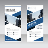 Blue black Business Roll Up Banner flat design template ,Abstrac. T Geometric banner Vector illustration set Stock Photos