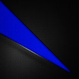 Blue and black carbon fiber background. 3d illustration material design. racing style royalty free illustration
