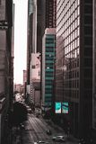 Blue and Black City Buildings Royalty Free Stock Images