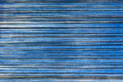 Blue and Black cotton thread for weaving for abstract texture and background Royalty Free Stock Photography