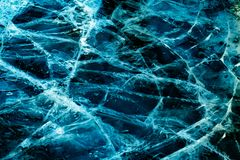 Blue and black cracked ice stock photos
