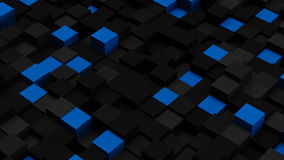 Blue and black 3D boxes. Abstract background Stock Photography