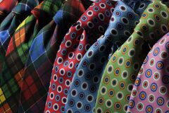 Blue and Black Dotted Neck Tie stock images