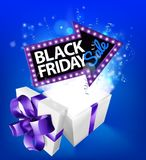Black Friday Sale Gift Box Sign royalty free illustration