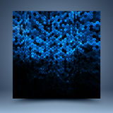 Blue and black glitter abstract template Royalty Free Stock Images