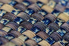 Blue Black and Gold Woven Textile Royalty Free Stock Image