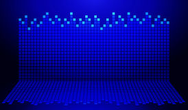 Blue and black graph. For sound wave stock illustration
