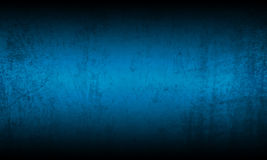 Blue black grunge background Stock Photos