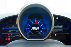 Blue and black high-tech dashboard Stock Photography