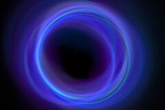 blue-black hole Royalty Free Stock Photo