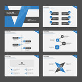 Blue black Infographic elements presentation template flat design set. For brochure flyer leaflet marketing advertising Royalty Free Stock Photography