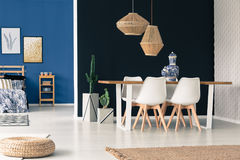 Blue and black interior inspiration Royalty Free Stock Images