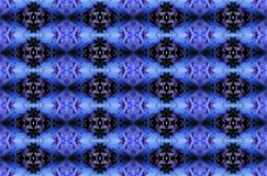 BLUE AND BLACK INTRICATE REPEAT DIAMOND PATTERN. Detailed repeat decorative black and blue pattern Royalty Free Stock Images