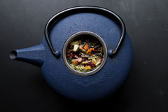 Blue and Black Kettle Royalty Free Stock Images