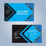 Blue and Black modern business card template Royalty Free Stock Images