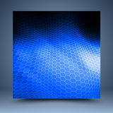 Blue and black geometric abstract background royalty free illustration
