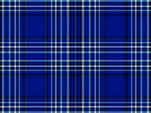 Blue and Black Plaid Stock Image