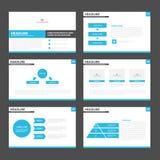 Blue black presentation layout templates Infographic elements flat design set for brochure flyer leaflet marketing. Advertising royalty free illustration