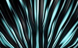 Blue and black silk drapery and fabric background. 3d render. Ing Royalty Free Stock Images