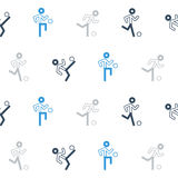 Blue black soccer team pattern and background Stock Photography