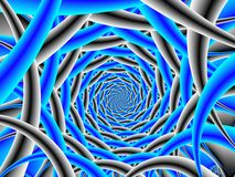 Blue and Black Spiral Stock Photography