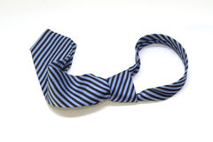 Blue and black stripped tie Stock Photos