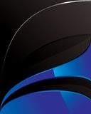 Blue_and_black_tech_background Royalty Free Stock Images
