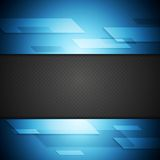 Blue and black tech background Stock Photography